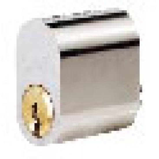 Oval Double Cylinder with 3 Keys, Analog ASSA 602, Polished Chrome