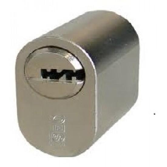 Oval Cylinder ISEO R6, Analog ASSA, Nickel