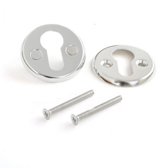 EURO Rosette for Cylinders, Polished Chrome
