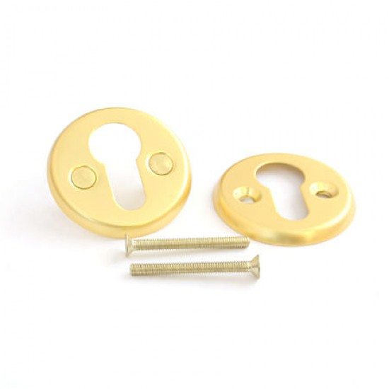 EURO Rosette for Cylinders, Matte Gold