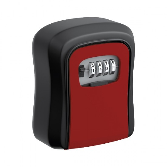 Coded key box, red