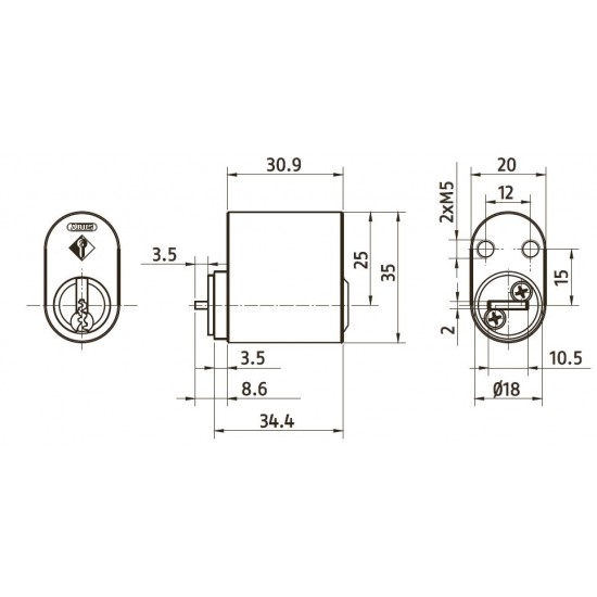 Oval Cylinder ABUS