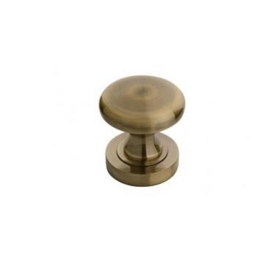 round knob, patina