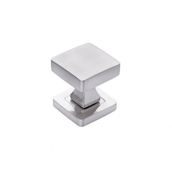 square knob, nickel