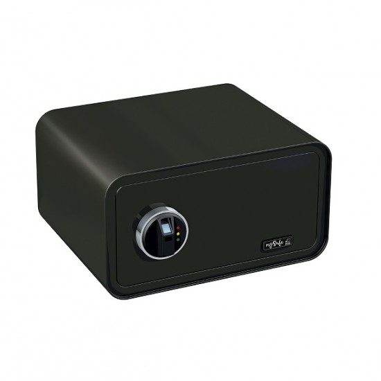 mySafe 430 FP matt black Safe box, Fingerprint lock 230x430x350mm